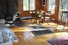 Our Sunny Living Room with Wood Stove