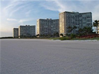 View of South Seas Condo Association from Beach
