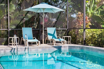 Plenty of Space for Lounging by the Heated Pool