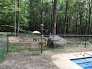 Kid's play area - off of pool, in beautiful Catskill mountain setting