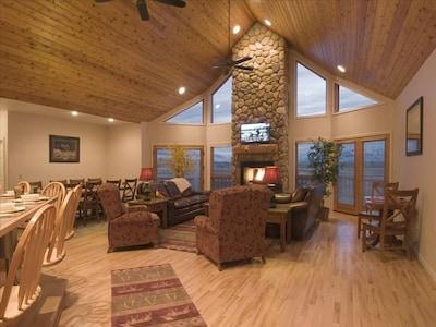 Bull Moose retreat- Living Room
