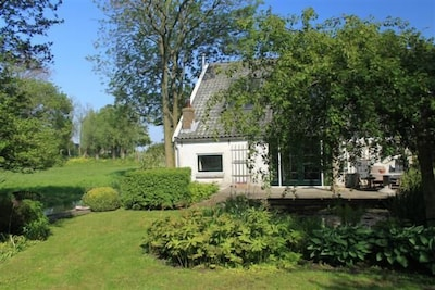 View from the garden to the summer house