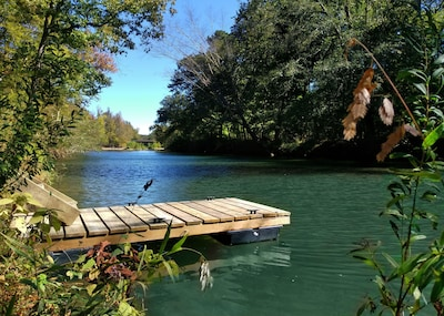 The floating dock is usually available from Memorial Day through Thanksgiving