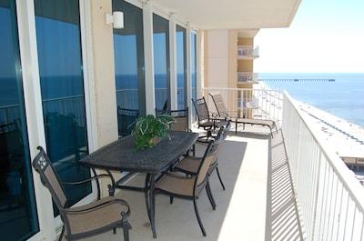 Balcony, looking east