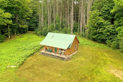 views of the cabin from a drone!