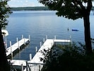 Beautiful private pier (on right) just down driveway from Green House!