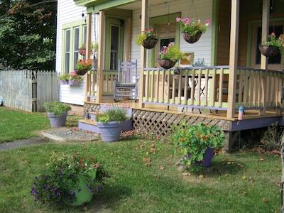 front porch of unit 1