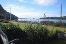 View towards the estuary mouth from the deck