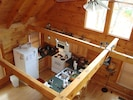 View of kitchen from the loft.