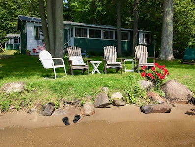 Walk-in sandy beach...no other rental in the area offers such easy access