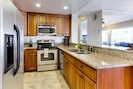 Newly remodeled kitchen - equipped for all your home cooking needs