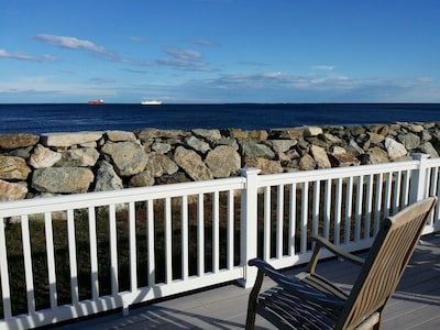 Deck view of the Atlantic Ocean