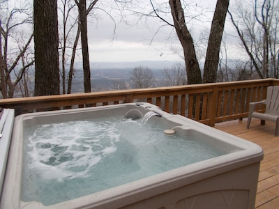 View from 5 man hot tub