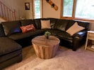 Cozy leather sectional