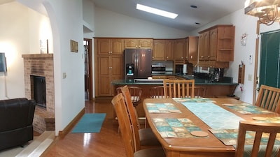 Dining, Kitchen, Family Room areas