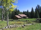Home sits in meadow surrounded by National Forrest