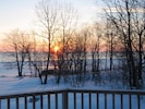 sunrise from the deck in winter
