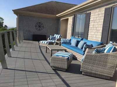 Front deck...perfect for after beach cocktails and a great sunset!