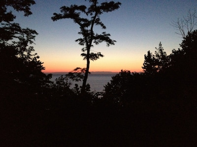 Beautiful Lake Michigan sunset as seen from our deck