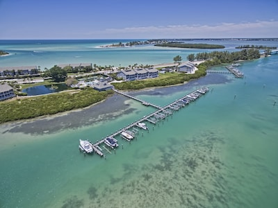 VIew of our property on Boca Grande. The condo is located to the left.