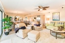 Luxury living space, Comfy blankets, plush rug, South Padre Island Texas