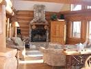 Real wood-burning fireplace