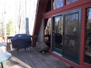 Deck with propane grill.
