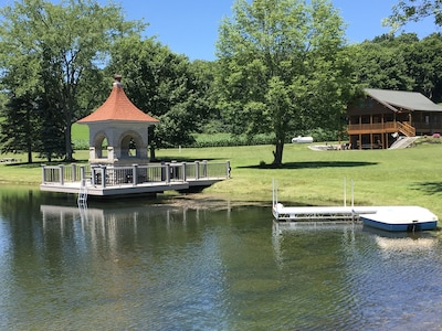 Two docks for fishing and launching kayaks and paddle boat