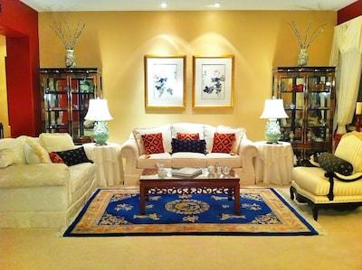 An Elegant, Asian-Insired Living Room