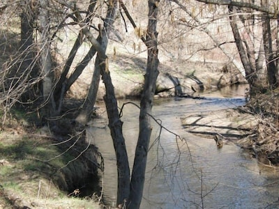Fresno River runs in the back of the property.