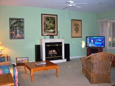 "Great Room - with new 50"" LED TV  - DVD - Surround sound"