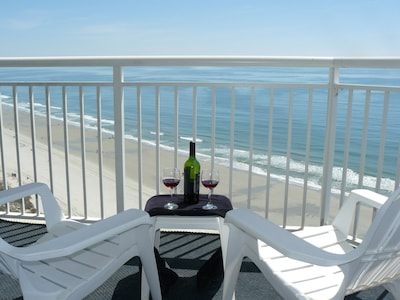 Have a nice bottle of wine on the Penthouse Deck! You Deserve it!