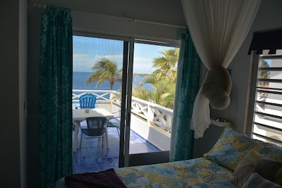 View from Master Bedroom of the Crystal Blue Caribbean
