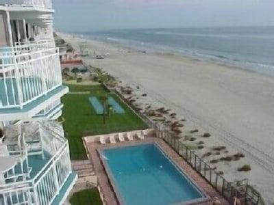 Direct ocean front balcony