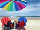 Quiet no-drive beach 6 Adirondack chairs and beach towels for guests' use