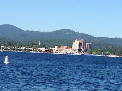 Coeur d'Alene Resort view from dock.