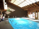 Pool and inside hot tub