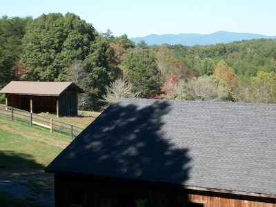 Cohutta's seen over the stable when driving on Damascus Trail to the Bunkhouse.