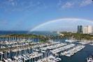 Double Rainbow  overlooking Yacht Harbor and Magic Island
