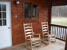 Come relax on the porch over-looking the river.