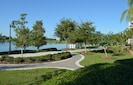 Walking and jogging trails around Lake Cay