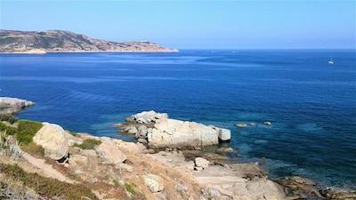 Photo1/4 : Vue grandiose et Panoramique de la mer : Vue réelle de la terrasse