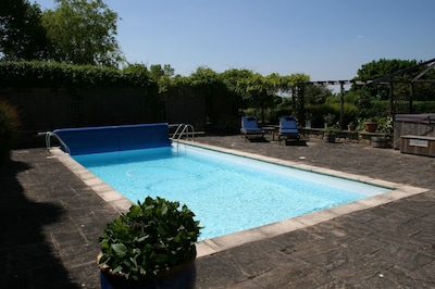 Enclosed swimming pool area
