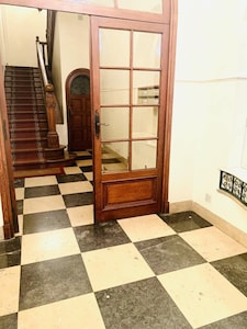 The main entry way into the apartment building