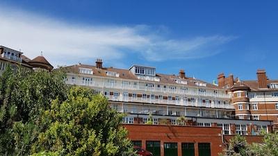 Seaward facing elevation of Burlington Mansions
