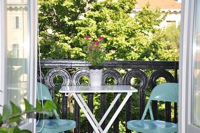 Balcon - sur verdure, sans vis-à-vis