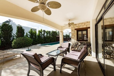 This covered verandah is accessed through the Lounge or Downstairs Bedroom