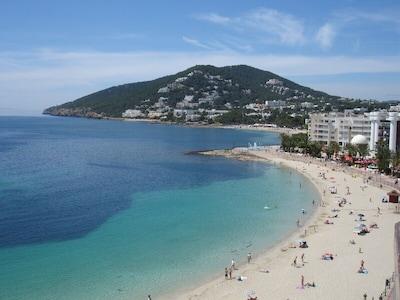 Platja de Santa Eulàlia, Santa Eulalia del Rio, Balearic Islands, Spain