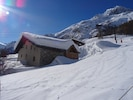 Le chalet vu des pistes - The chalet from the sloops