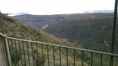 La vue panoramique depuis la terrasse